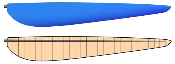 鳥人間コンテスト本番プロペラ平面形