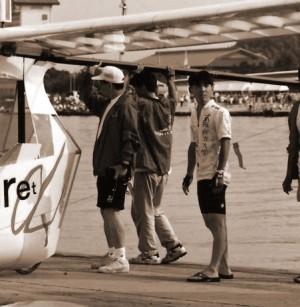 1995年鳥人間コンテスト桟橋にて